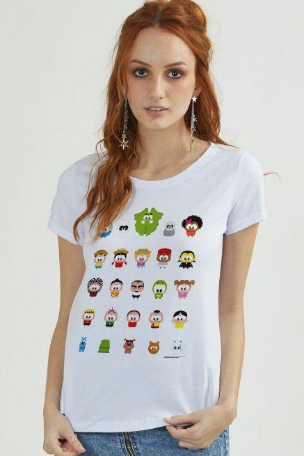 Camiseta Feminina Turma da Mônica Toy Todos