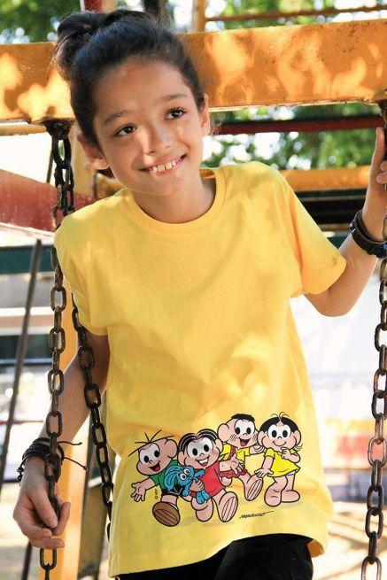 Camiseta Infantil Turma da Mônica A Turma Modelo 2