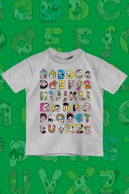 Camiseta Infantil Turma da Mônica Abecedário Divertido