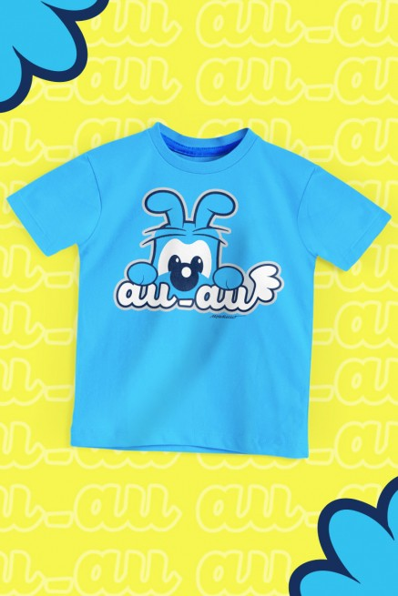 Camiseta Infantil Turma da Mônica Bidu Au Au