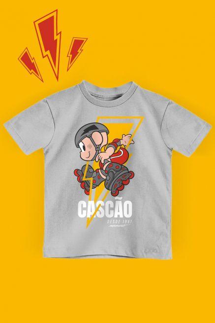 Camiseta Infantil Turma da Mônica Cascão Radical