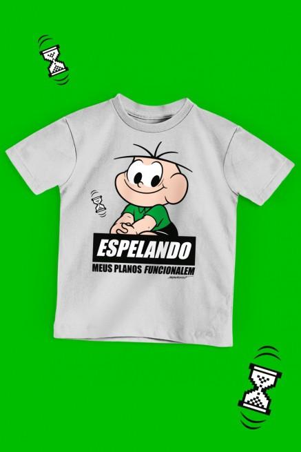 Camiseta Infantil Turma da Mônica Cebolinha Espelando