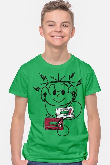 Camiseta Infantil Turma da Mônica Cebolinha Ouvindo Música