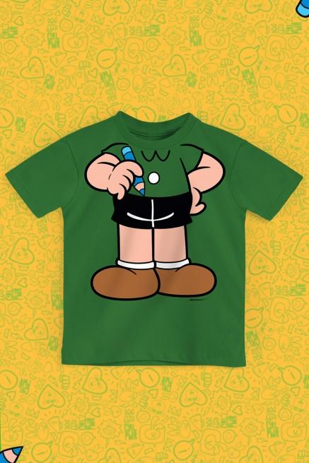 Camiseta Infantil Turma da Mônica Corpinho Cebolinha