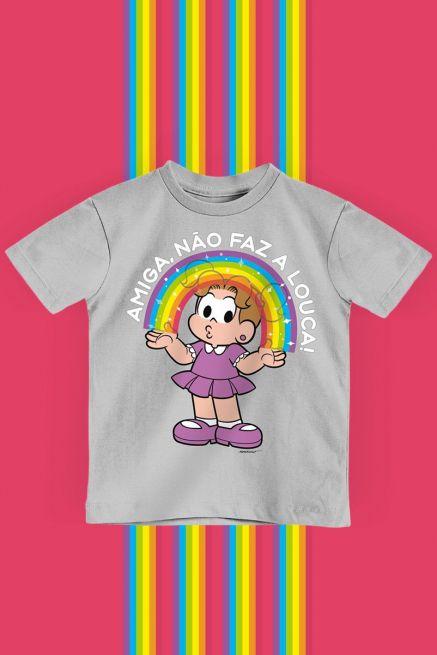 Camiseta Infantil Turma da Mônica Denise Amiga, Não faz a Louca!