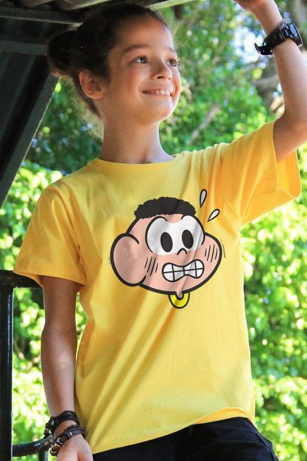 Camiseta Infantil Turma Da Mônica Face Cascão