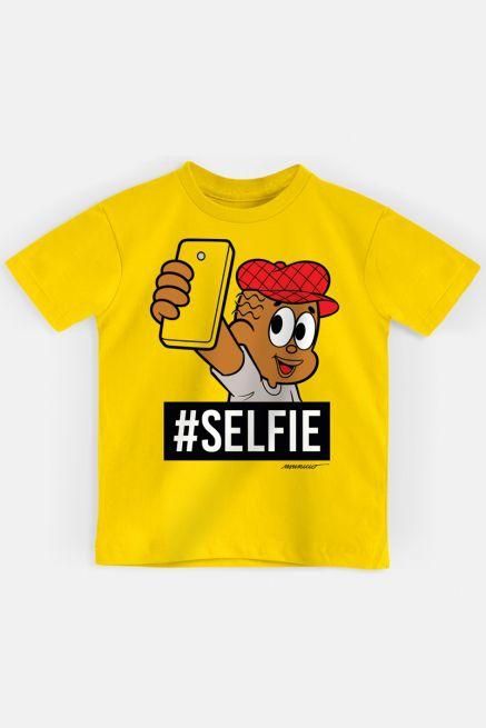 Camiseta Infantil Turma da Mônica Jeremias #SELFIE