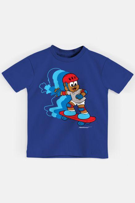 Camiseta Infantil Turma da Mônica Jeremias Skatista