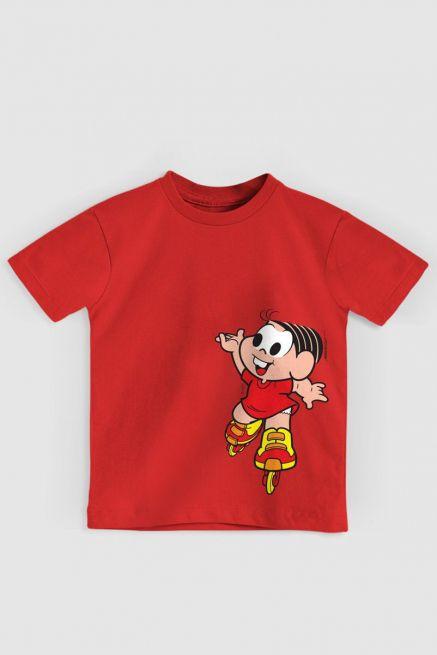 Camiseta Infantil Turma Da Mônica Mônica Roller