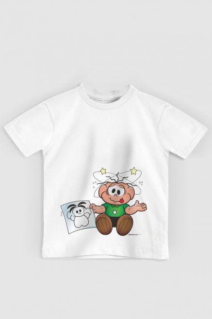 Camiseta Infantil Turma Da Mônica O Cebolinha Apanhou!