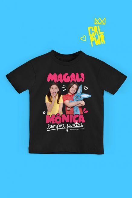 Camiseta Infantil Turma da Mônica Laços Magali e Mônica Sempre Juntas