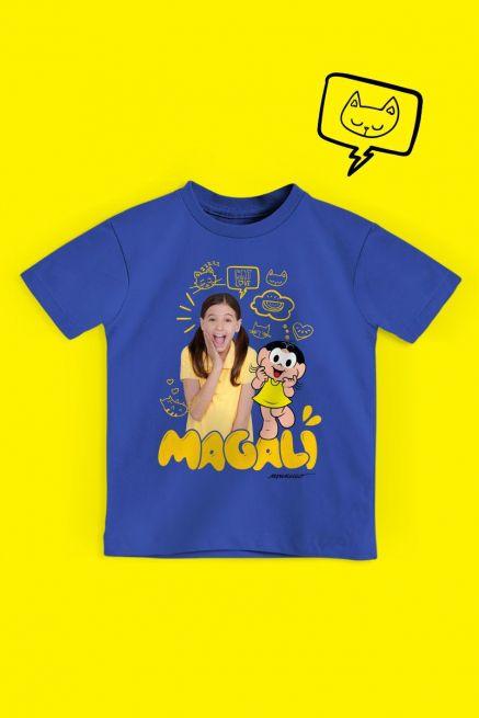 Camiseta Infantil Turma da Mônica Laços Magali em Dose Dupla