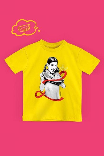 Camiseta Infantil Turma da Mônica Laços Magali Laço