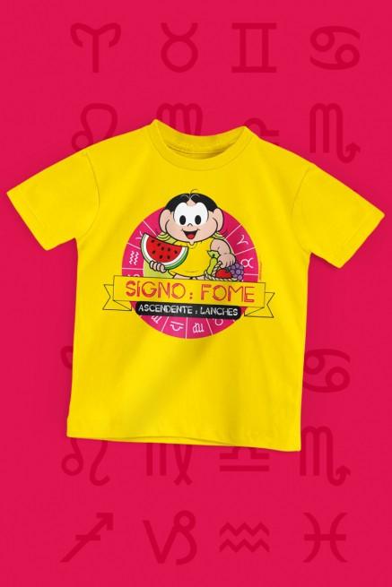 Camiseta Infantil Turma da Mônica Magali Signo: Fome
