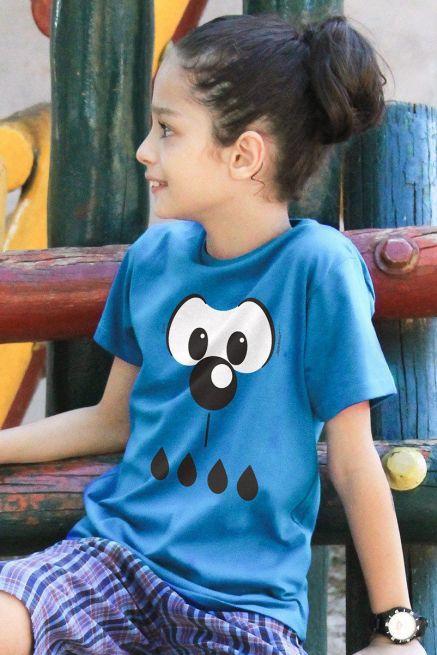 Camiseta Infantil Turma Da Mônica Olhões Bidu
