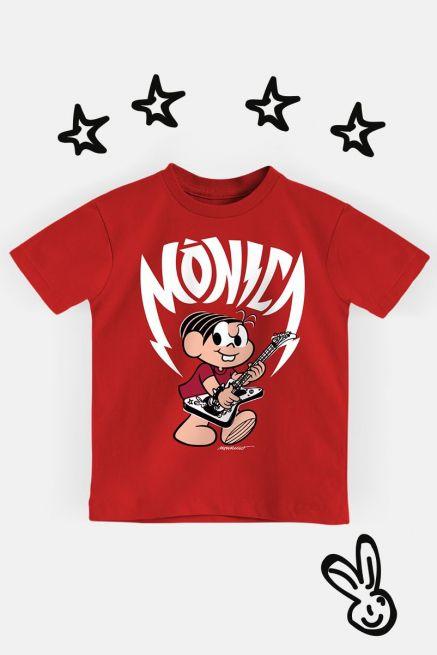 Camiseta Infantil Turma da Mônica Rockstar