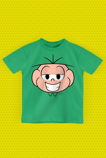 Camiseta Infantil Turma da Mônica Rostinho Cebolinha