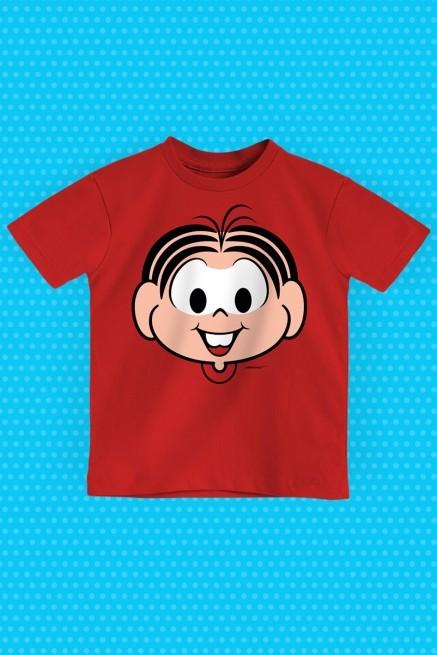 Camiseta Infantil Turma da Mônica Rostinho Mônica