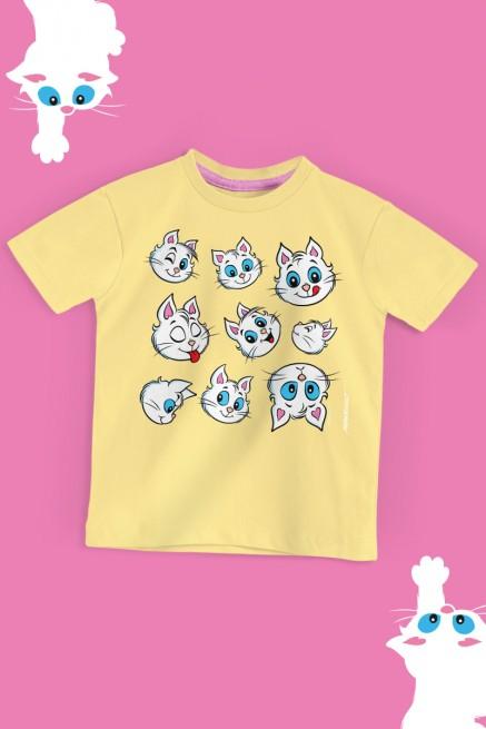 Camiseta Infantil Turma da Mônica Rostinhos Mingau