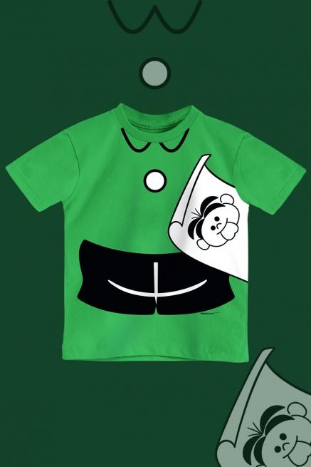 Camiseta Infantil Turma da Mônica Roupinha Cebolinha