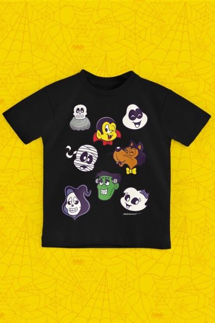 Camiseta Infantil Turma da Mônica Turma do Penadinho Rostinhos