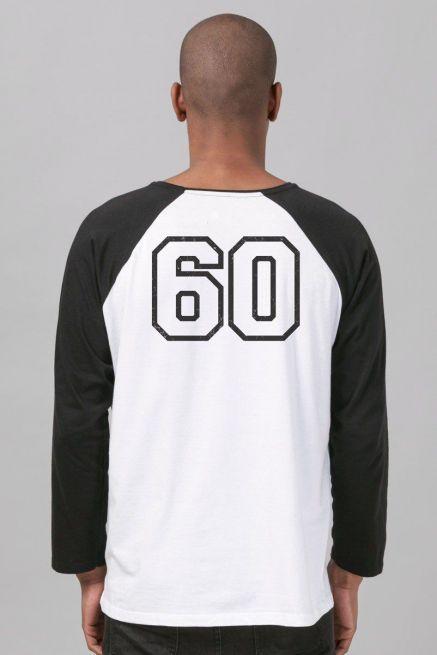Camiseta Manga Longa Masculina Turma da Mônica Cascão College
