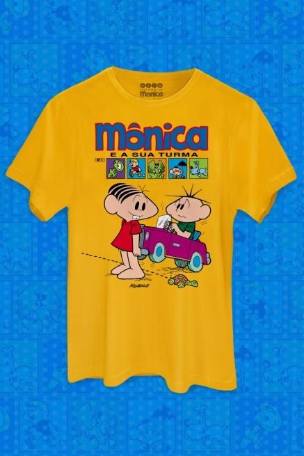 Camiseta Masculina Mônica e Sua Turma