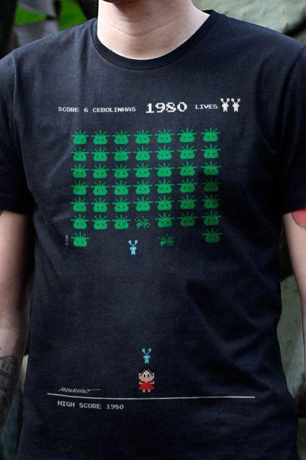 Camiseta Masculina Turma da Mônica 50 Anos Modelo 7 Anos 80