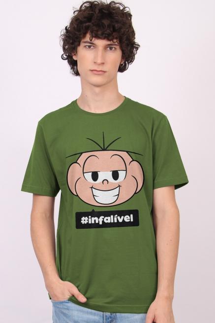 Camiseta Masculina Turma da Mônica Cebolinha #Infalível