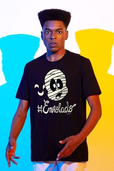 Camiseta Masculina Turma da Mônica #Enrolado
