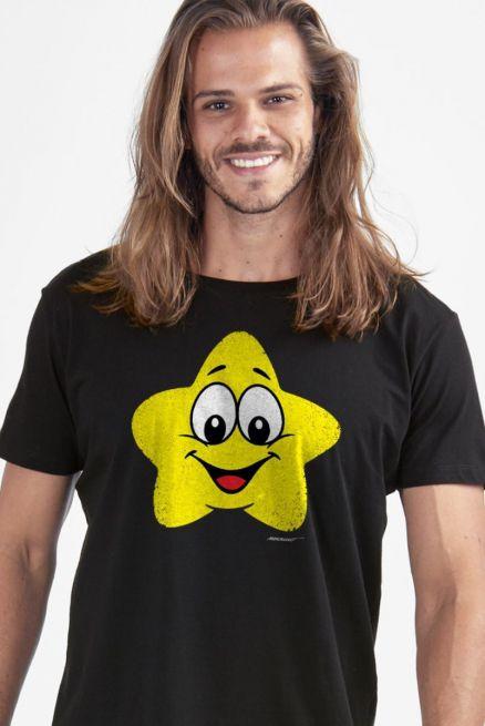 Camiseta Masculina Turma da Mônica Estrelinha Mágica