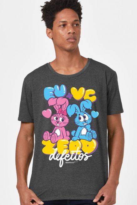 Camiseta Masculina Turma da Mônica EU + VC