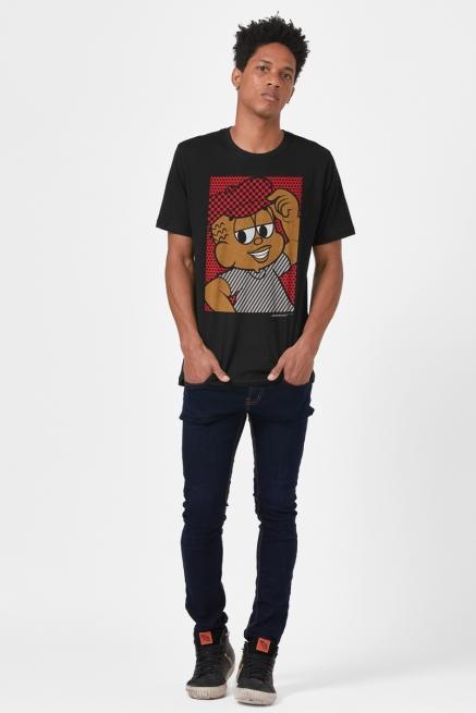 Camiseta Masculina Turma da Mônica Jeremias Pop Art