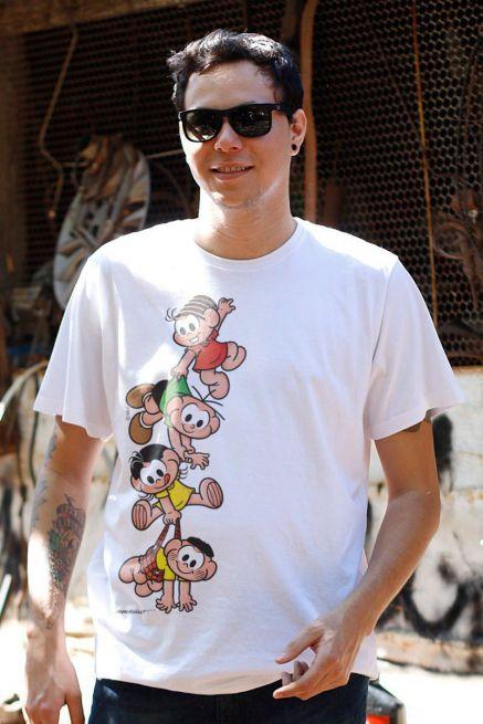 Camiseta Masculina Turma Da Mônica A Turma