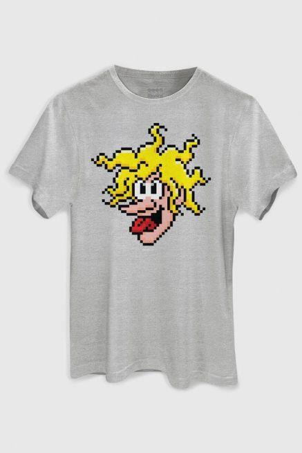 Camiseta Masculina Turma da Mônica Louco