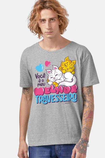 Camiseta Masculina Turma da Mônica Melhor Travesseiro