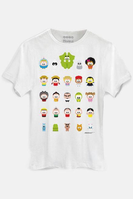 Camiseta Masculina Turma da Mônica Toy Todos