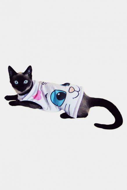 Camiseta Para Cães e Gatos Olhões Mingau
