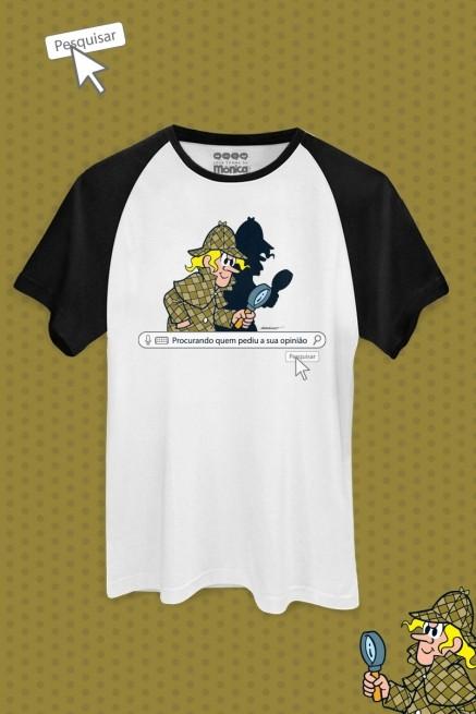 Camiseta Raglan Masculina Turma da Mônica O Louco Opinião