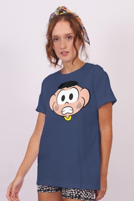 Camiseta Unissex Turma da Mônica Rostinhos Cascão