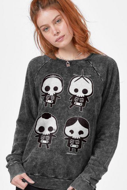Moletinho Marmorizado Turma da Mônica Skull