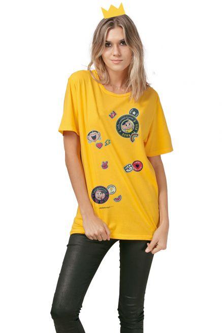 T-Shirt Feminina Turma da Mônica Dona da Rua Patches