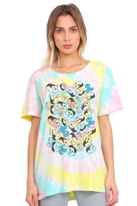 T-shirt Feminina Turma da Mônica Sansão e Mônica Expressões