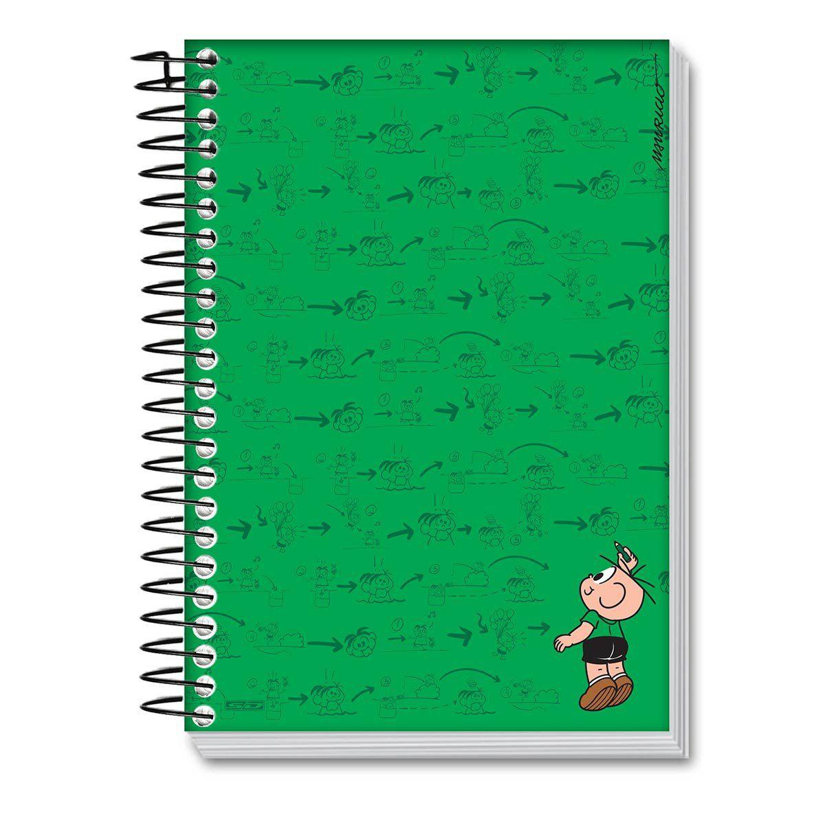 Caderno Universitário 96 Fls Turma da Mônica Cool - Plano do Cebolinha