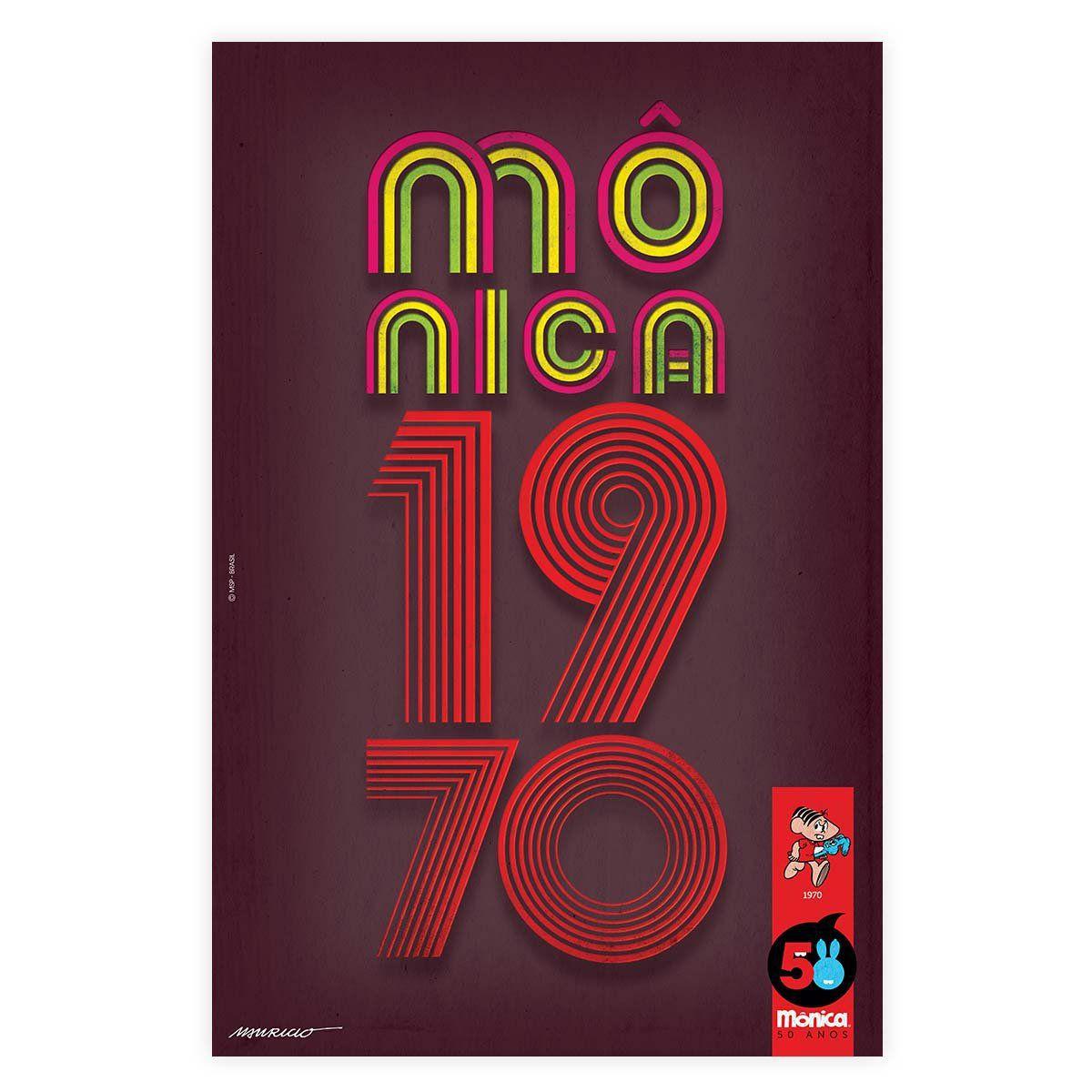 Pôster Turma da Mônica 50 Anos - Modelo 3 Anos 70