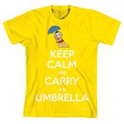 Camiseta Turma Da Mônica Cool Keep Calm And Carry An Umbrella