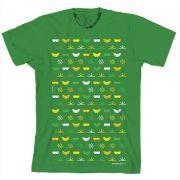 Camiseta Turma Da Mônica Kids Green Ícones