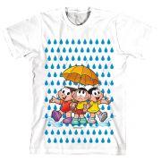 Camiseta Turma Da Mônica Kids Todos Na Chuva