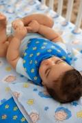 Babador Bandana Baby Estampado Cebolinha e Estrelinha