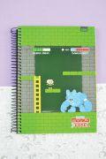Caderno Turma da Mônica Pixel Cebolinha 10 Matérias